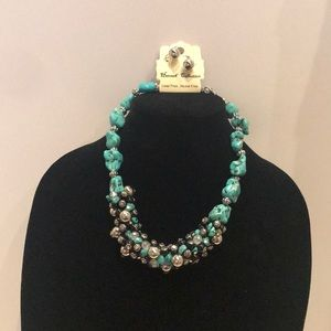 Hannah Collection Jewelry - NWT Hannah  Collection Turquoise  Necklace Set